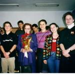 Випуск 2003, среща на единадесетокласници с Леда Милева през 2003