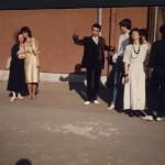 Випуск 1987, в училищния двор след бала